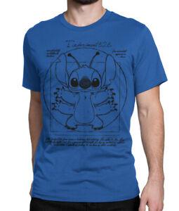 Vitruvian Stitch Graphic T-Shirt, Lilo & Stitch Funny Disney Shirt