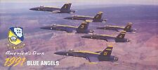 Broschüre Blue Angels Aerobatic Kunstflug Display Team 1991,U.S.Navy,F-18 Hornet