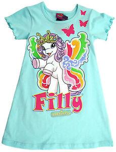 NEU-Filly-Nachthemd-Sleepsshirt-Pyjama-Kurzarm-Baumwolle-aqua-98-104-116-128