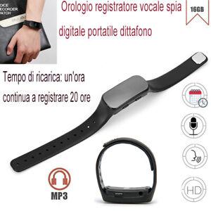 16GB-orologio-registratore-vocale-spia-digitale-nascosta-dittafono-Lettore-MP3