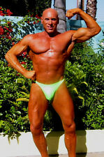 MUSCLE ALIVE Mens Bodybuilding Competition Posing Trunks Nylon and Spandex