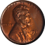 miniature 1 - 1931-D Lincoln Cent ANACS MS64RED Great Eye Appeal Nice Luster Strong Strike