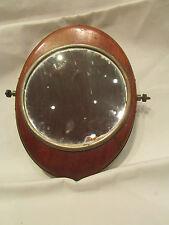 ancienne glace miroir grossissant epoque 1900 deco salle de bain chromé et bois