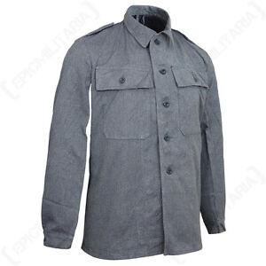 Original Swiss Work Jacket - Surplus Army Denim Coat Shirt Top ...