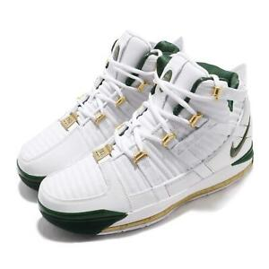 sports shoes 9b56b 09124 Details about Nike Zoom Lebron III QS SVSM Home White Green Men Basketball  Shoes AO2434-102