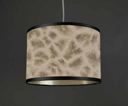 WOW Giraffe Faux print Lampshade Animal print Metallic Boutique *Choose lining*