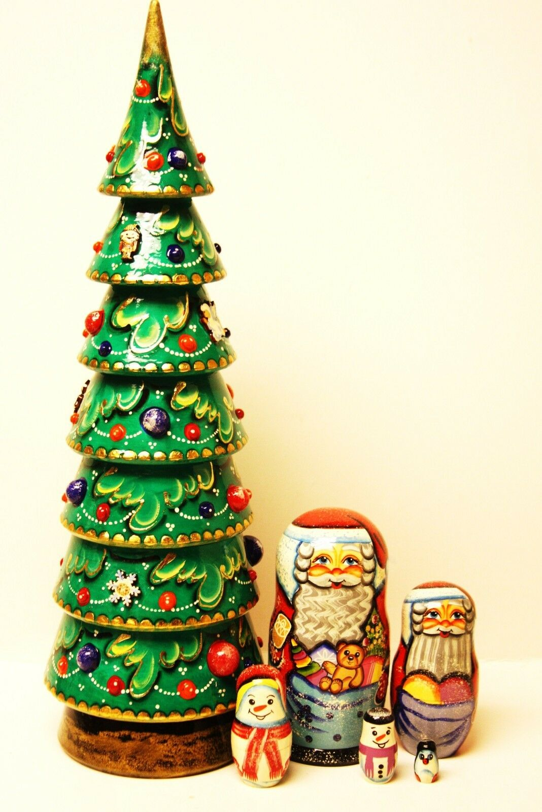 Alkota Genuine Russian Collectible Nesting Doll  My Favorite Christmas Tree , 18