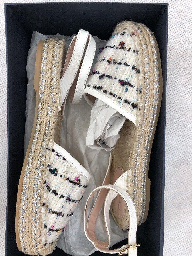 vendita all'ingrosso Oscar De De De La Renta donna scarpe Dimensione 35 NIB bianca Espadrille  negozio online outlet