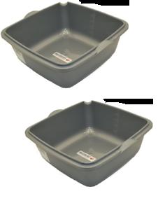 2 x Waschschüssel Spülschüssel Plastikschüssel Kunststoff Schüssel Camping 10 L