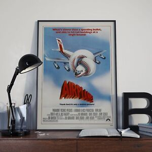Funny-80-039-s-Airplane-Movie-Film-Poster-Print-Picture-A3-A4-Size