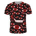 Chic Badass Vampire Control Art Restriction 666 Evil Eyes T-Shirt Tee Streetwear