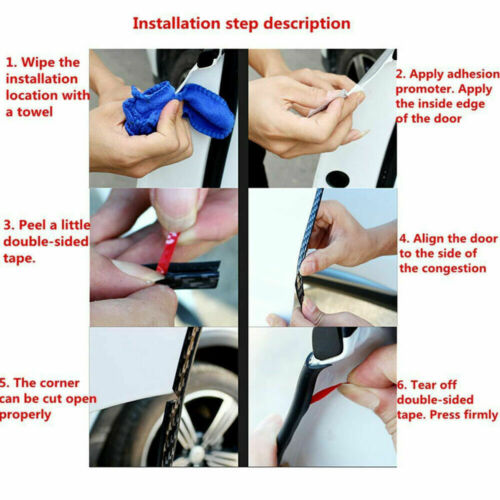 U Shape Rubber Edge Trim Car Door Seal Guard Protector Edging Strip Weather Car