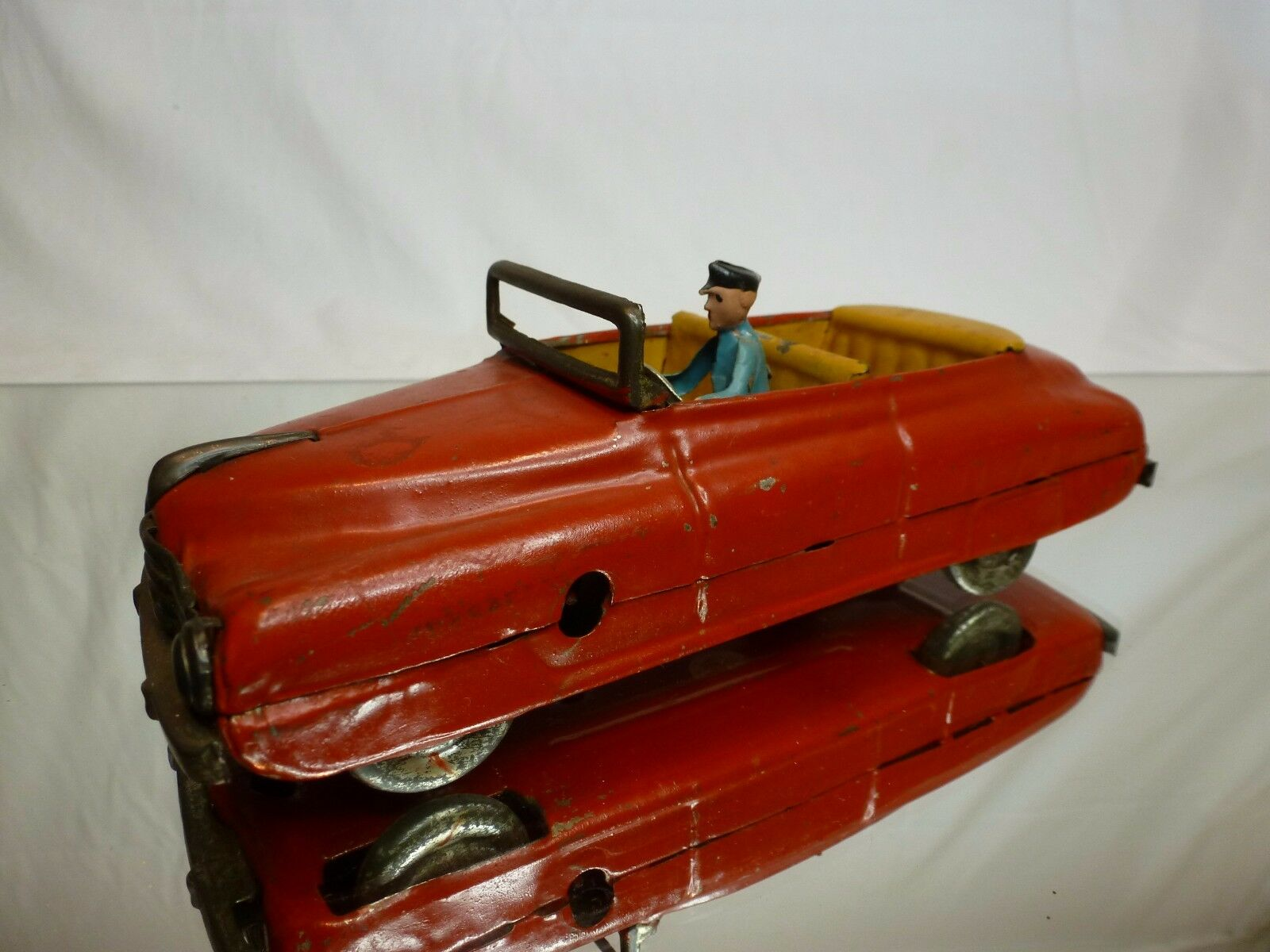VINTAGE TIN TOY WINDUP MM1956 USA CONVERTIBLE - L19.0cm RARE - NICE CONDITION