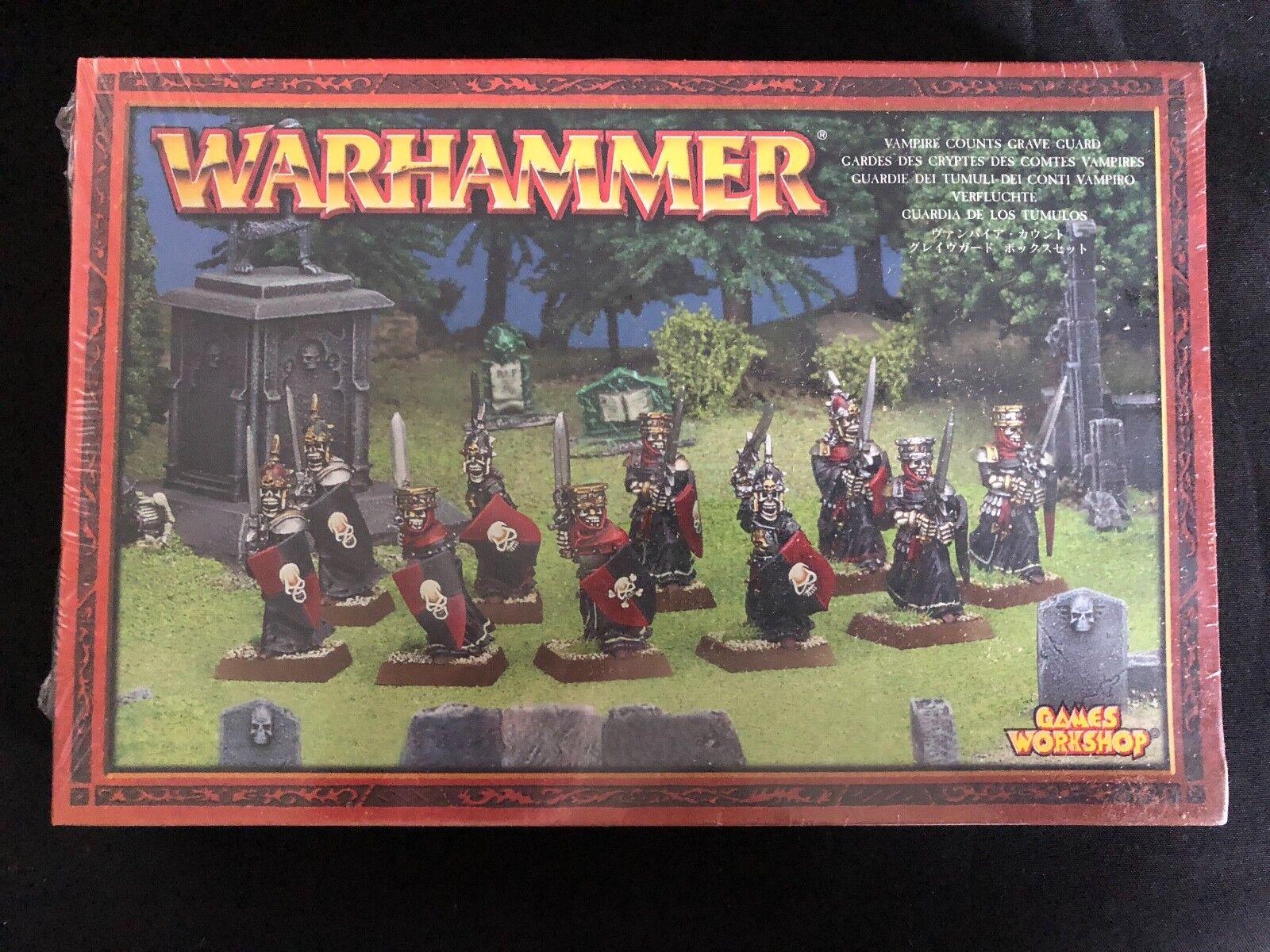 Warhammer Age of Sigmar Vampire Vampire Vampire Counts Grave Guard Metal New Sealed NIB OOP 0ae