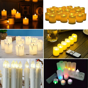 Image Is Loading Battery Remote Control Led Tea Lights Electric Candles