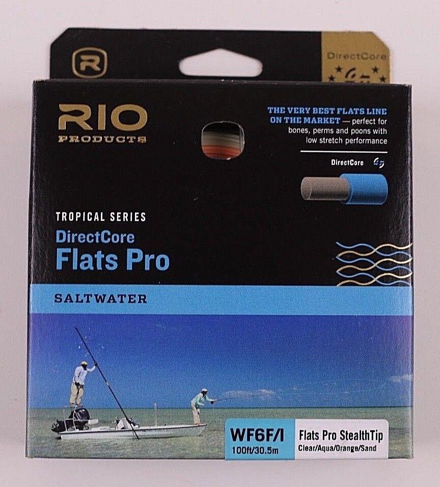Rio Flats Pro Stealth Tip DirectCore WF6FI Fly Line gratuito Fast Ship 621654