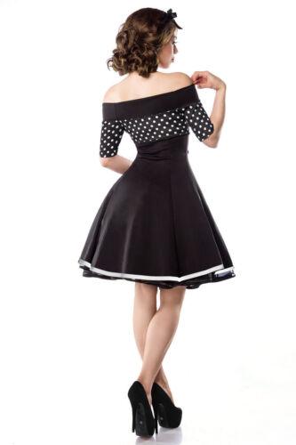 Pin Up Vintage Rockabilly  50er Kleid Marine schulterfrei