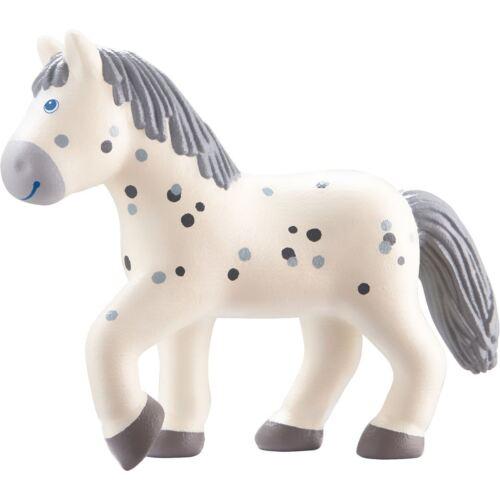"HABA Little Friends Horse Pippa 4.5/"" Dapple Grey Mare Poseable Bendy Figure"
