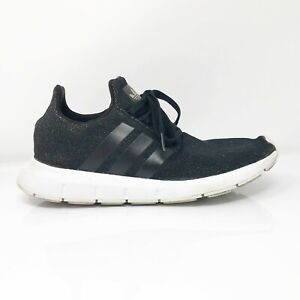 Adidas-Womens-Swift-Run-W-CQ2018-Black-Running-Shoes-Lace-Up-Low-Top-Size-9