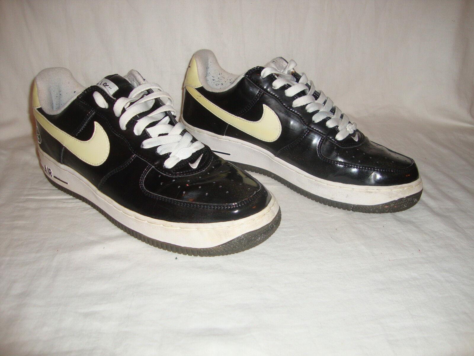 2005 Men's Nike 306509 Air Force 1 Low Matrix Euro Import Size 9.5 Black & White