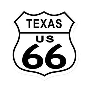 SHAMROCK TEXAS Route 66 Shield Metal Sign Man Cave Garage 211110014222