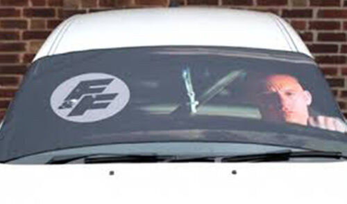 Fast and Furious Car Van Windscreen Frost Sun Protector Shield Modesty Blind Ice