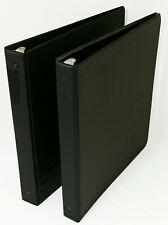 1 Inch 3 Ring Binder Notebook Black Pack Of 2