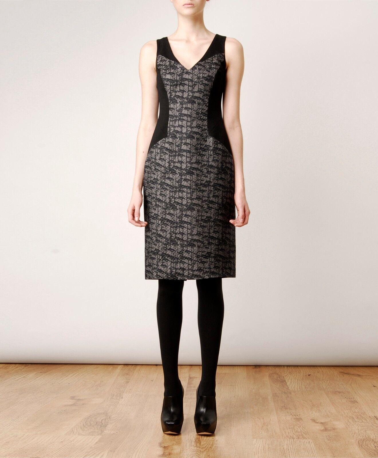 JASON WU Silk Wool Tree Jacquard Jacquard Jacquard Dress Size 4 NEW  2,070 ee82bd