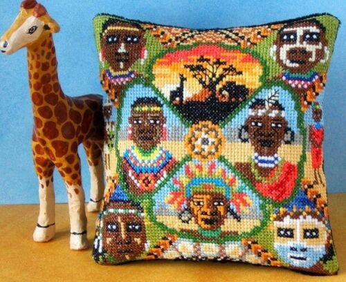 Sheena Rogers Designs Tribal Africa Mini Cushion Cross Stitch Kit