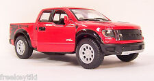 RED 2013 '13 Ford F-150 SVT Raptor Supercrew Truck Diecast Model 1/46 Pull Back