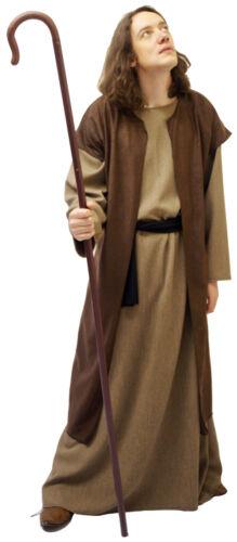DISCIPLE-JOSEPH-SHEPHERD /& CROOK Bible Fancy Dress SML-4XL Nativity CHRISTMAS