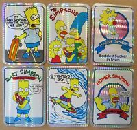 Vintage Simpsons Vending Prism 6 Stickers 80's 90's