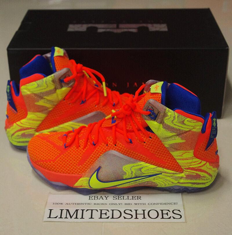 Nike lebron xii 12 6 meridiani ornage iper - crimson volt 684593-870 nsrl bhm