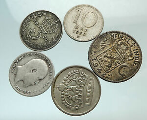 GROUP-LOT-of-5-Old-SILVER-Europe-or-Other-WORLD-Coins-for-your-COLLECTION-i75693