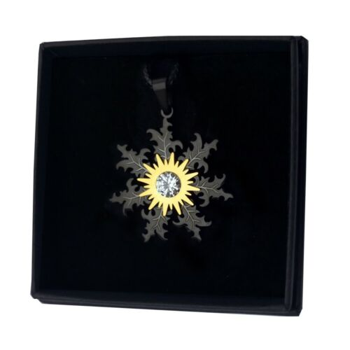 EGUZKILORE amuleto REGALO 30mm COLGANTE acero inox 316L BASQUE LIVE mujer CHICA