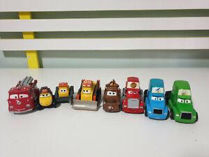 TOY-CARS-DISNEY-MOVIE-CARS-DIECAST-CARS-X8-MATER-CHUCK-BULLDOZER