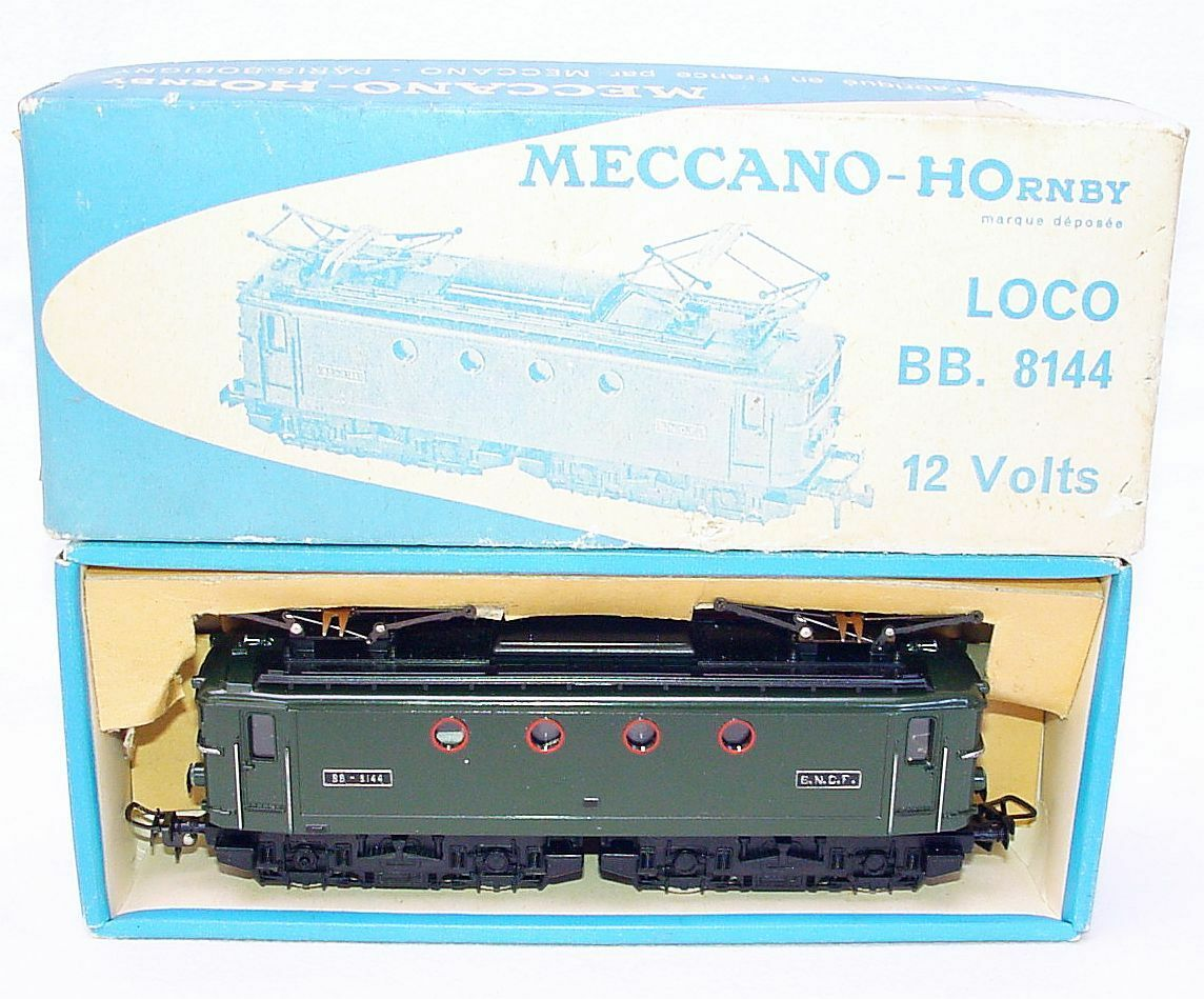 Hornby Meccano France HO SNCF BB 8144 PASSENGER TRAIN LOCOMOTIVE  6386 MIB`65