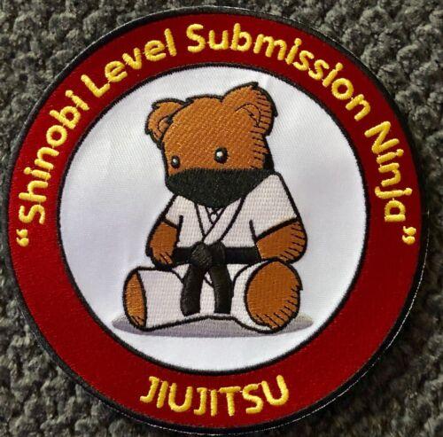 "Jiujitsu Gi Shinobi Level Submission Ninja Patch for BJJ MMA Taekwondo Judo 6/"""