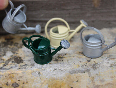 1:12 Dollhouse Miniature Mini White Watering Can Garden Accessories`