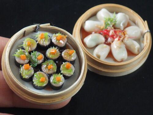 1:6 Dollhouse Miniatures Steamed Dumplings Chinese Food Deco Barbie Blythe A003