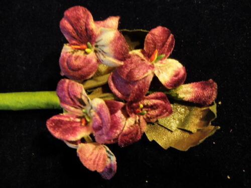 Hair Y239 Millinery Flower Velvet Pansies Purple Pink for Hat Wedding
