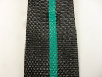 Aluminum Lawn Chair Webbing 39ft New, 2 1/4in Wide Black With Teal Green Stripe