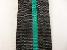 Aluminum Lawn Chair Webbing 39ft New 2 1 4in Wide Black With Teal Green