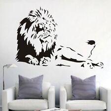 Löwe liegend Afrika Wandtattoo Wallpaper Wand Schmuck 81 x 57 cm