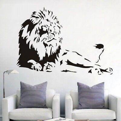 Wandtattoo Aufkleber Sticker Wandaufkleber Afrika Löwe lion liegend 605