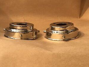 2-x-LAMP-SHADE-GALLERIES-CHROMIUM-STEPPED-Art-Deco-DESIGN
