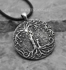 Antique-Silver-Plt-Mother-amp-Child-Tree-of-Life-Pendant-Necklace-Ladies-Mums-Gift