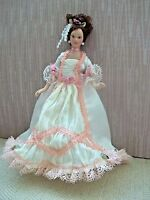 Lovely Porcelain Victorian Lady - Doll House Miniature
