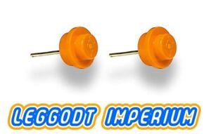 LEGO-Custom-Stud-Earrings-Orange-FREE-POST