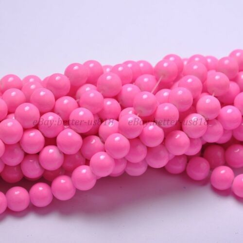 6MM 4MM 8MM /& 10MM Quality Czech Opaque Coated Glass Pearl Round Beads